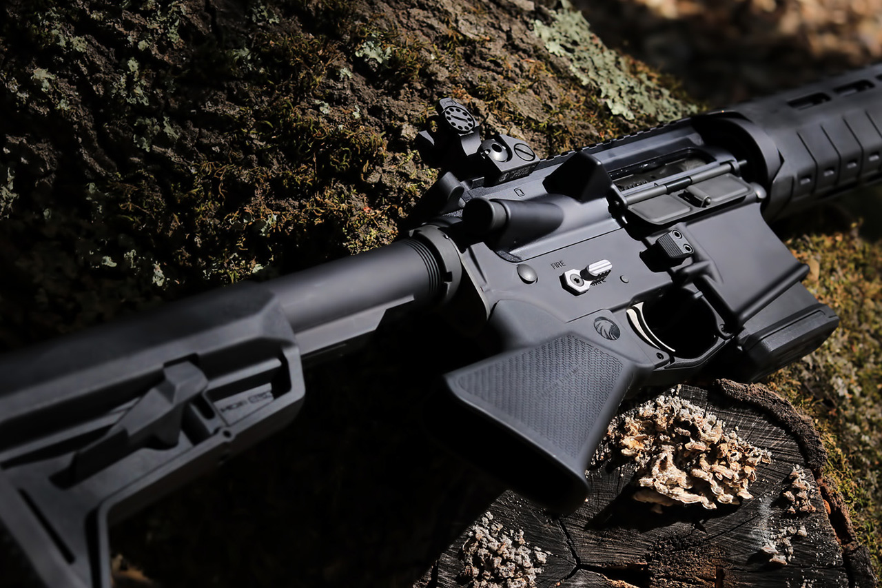 California Legal Featureless Rifle Grip on Mossy Tree