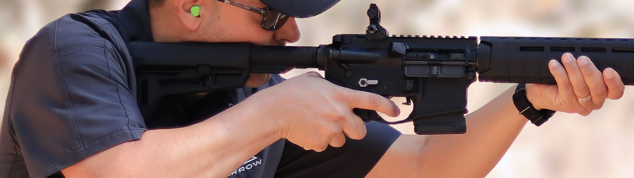 Shooting Sparrow Dynamics Featureless Rifle closeup