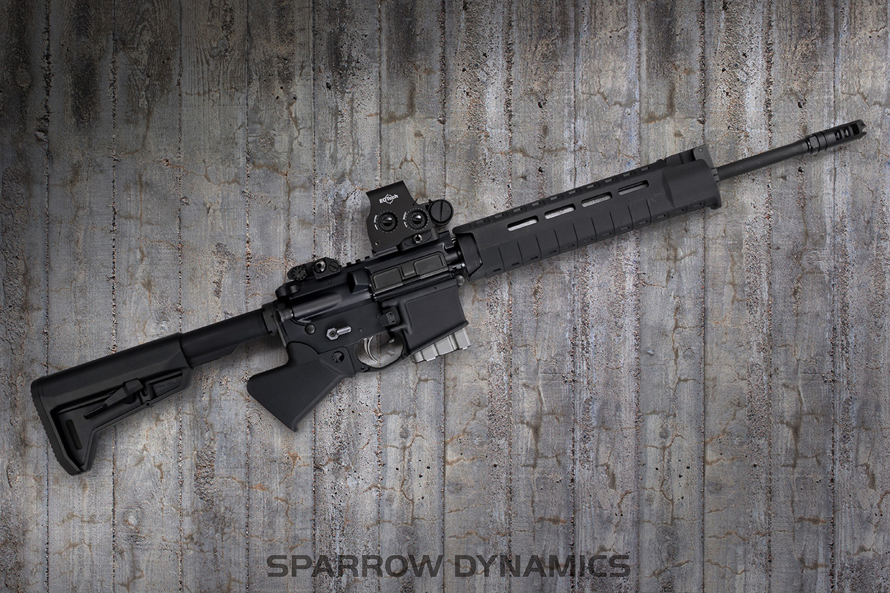 Sparrow Dynamics California Compliant AR-15 Modern Featureless Rifle Grip on concrete